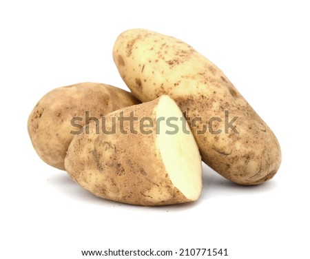 A fresh raw potato. Idaho potatoes - stock photo