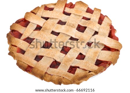 A freshly baked, homemade cherry pie - stock photo