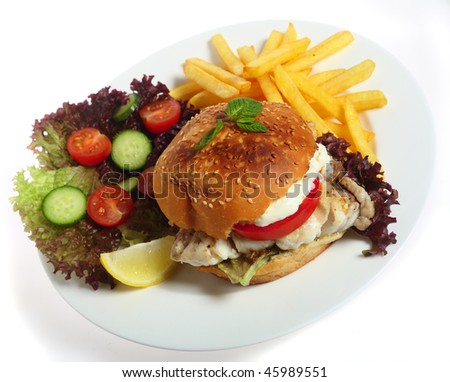 Hamour fish stock images royalty free images vectors for Creamy sauce served with fish