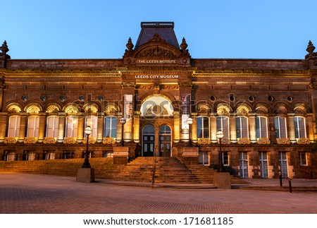 A front elevation of Leeds city museum. - stock photo