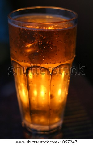 A frosty mug of beer - stock photo