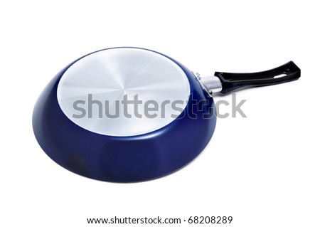 A frying pan isolated on a white background - stock photo