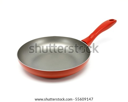 A frying pan on a kitchen bench - stock photo