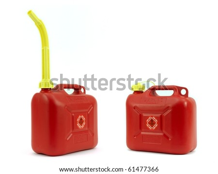 A fuel container isolated against a white background - stock photo