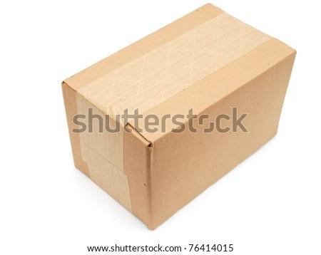 A full heavy shipping box - stock photo