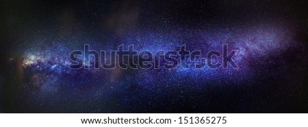 A full panorama of the Milky Way. - stock photo