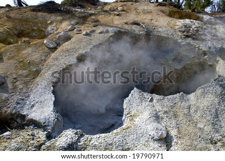 A fumarole, a hydrothermal vent, in Lassen Volcanic National Park
