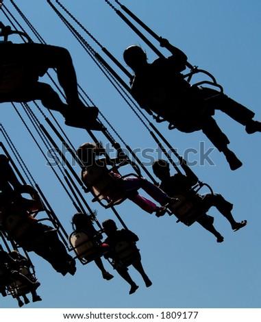A fun amusement park ride - stock photo