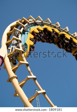 A fun amusement park ride - stock photo