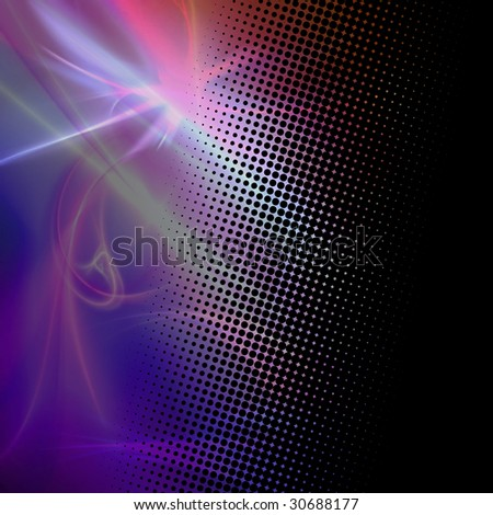 A funky and modern looking fractal texture with halftone dots. - stock photo