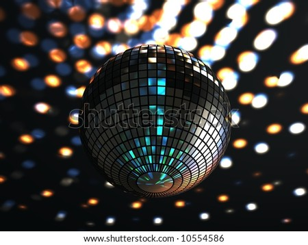 A funky glitterball - stock photo