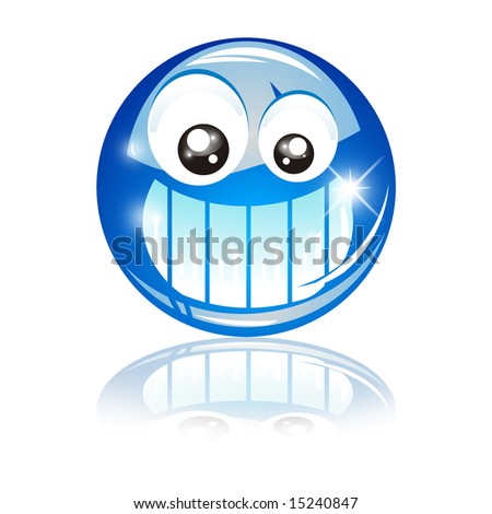 A funny Big Blue smile! - stock photo