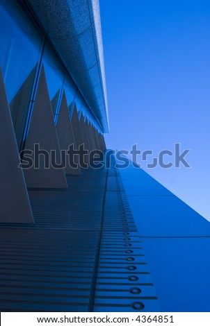 A futuristic gangway... - stock photo