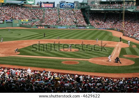 A game at Boston's Fenway Park. - stock photo