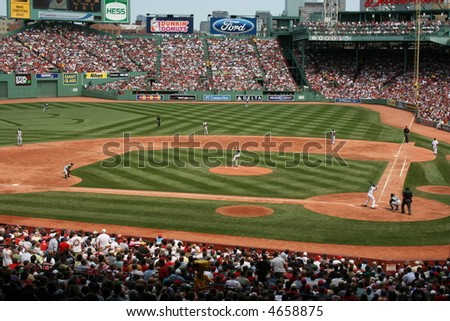 A game at Boston's Fenway Park.