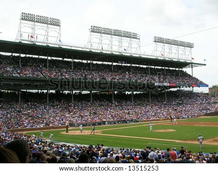 A game at Wrigley Field in Chicago.