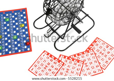 A game of bingo over a white background - stock photo