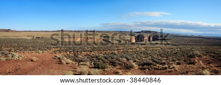 A Gash In The Arizona Desert Cut By The Little Colorado River. This Location Is Along Highway 64 Just To The South East Of Where Little Meets Big In The Grand Canyon - stock photo