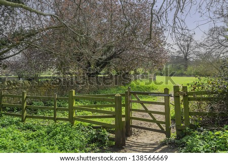 A gate on a footpath.