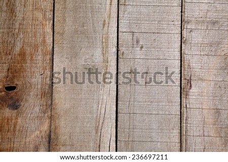 A genuine old wooden de-nailed pallet background. Wooden Pallet taken apart, the nails removed and planks laid vertical or can be turned horizontal for your use. Wood is made from trees.  - stock photo