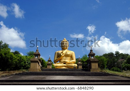 A giant Buddha statue in Thailand.