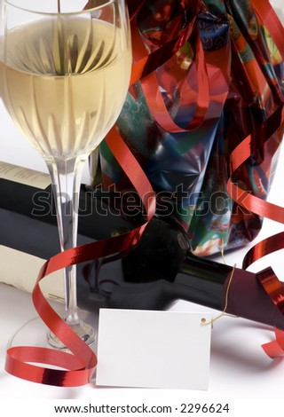 A gift bottle of wine for a special occasion - stock photo