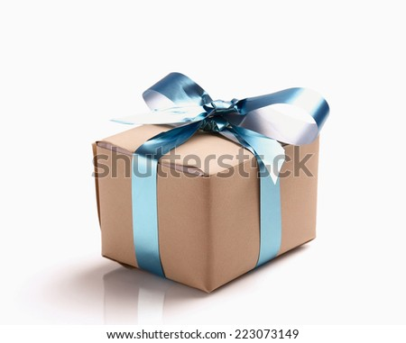 A gift box - stock photo