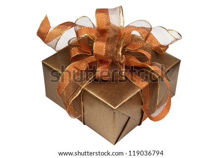 A gift for Christmas, Birthday, Wedding, or Valentine's day. Isolated on white with clipping path.