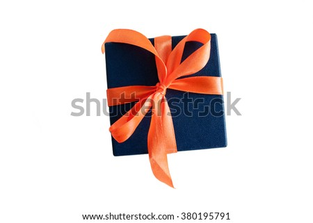 a gift on a white background - stock photo