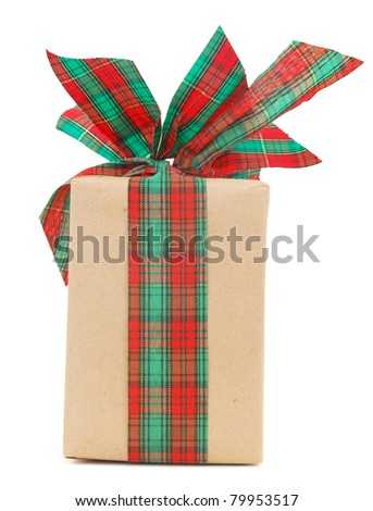 A gift wrapped present - stock photo