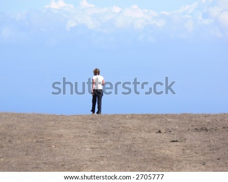 A girl at the edge of the world