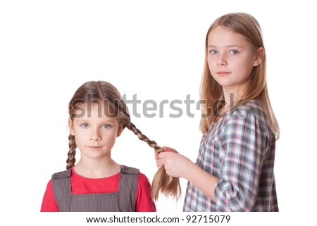 A girl do sisters long hair/sisters/hair