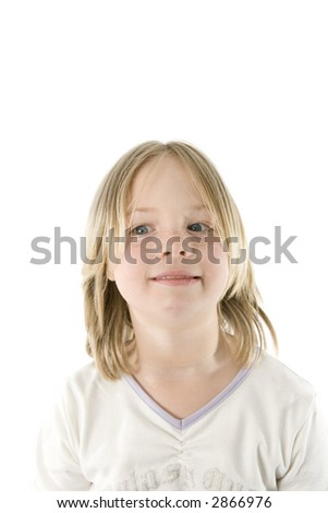 A girl having fun in front of the camera
