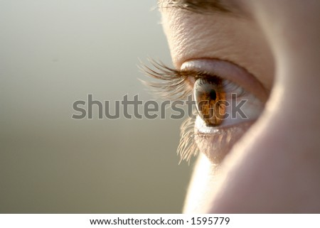 A girl's Eye - stock photo