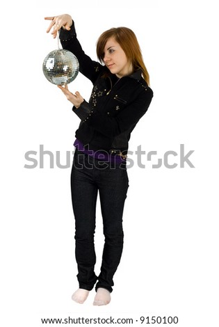 "a girl with a glitterball - See similar images of this ""Gorgeous women"" series in my portfolio"