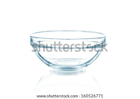 A glass bowl - stock photo