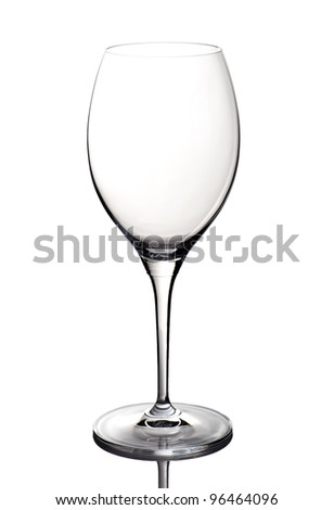 A glass goblet isolated on white background