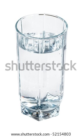 A glass of fresh and clear water - stock photo