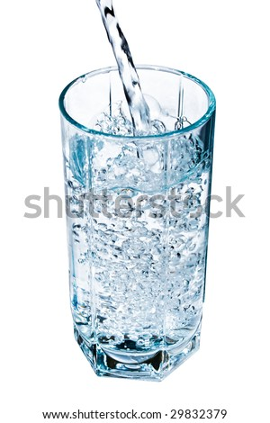A glass of fresh clear water