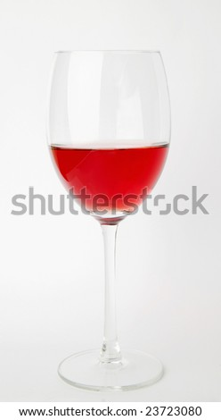 A glass of pink wine - stock photo