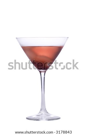a glass of red Icy cold alcoholic drink