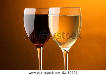 a glass of red wine a glass of white wine details