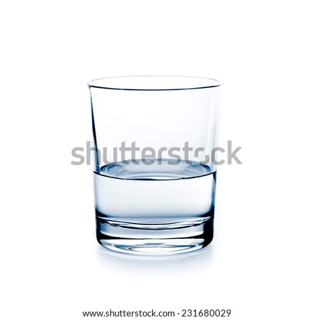 A glass of water isolated on white background - stock photo