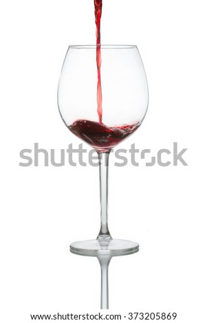 A glass of wine.