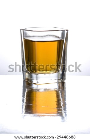 A glass whit old tequila