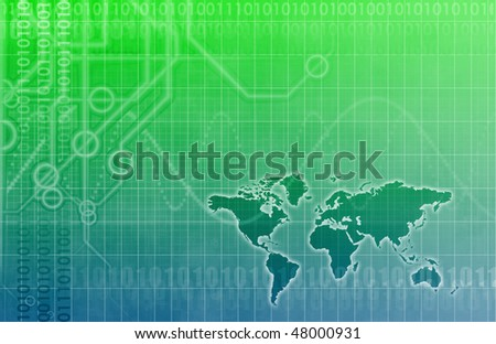 A Global Business Abstract Background Art Texture - stock photo