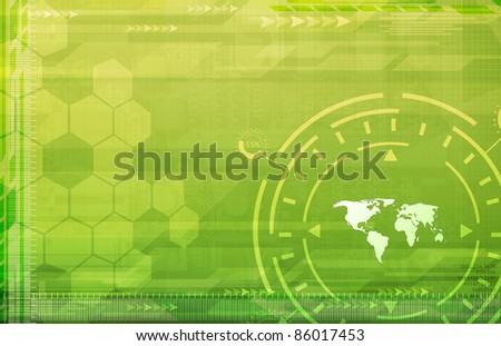 A Global Business Abstract green Background Art Texture - stock photo