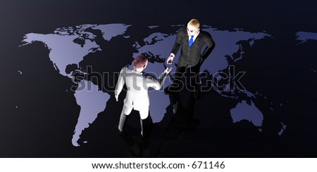 A global deal - stock photo