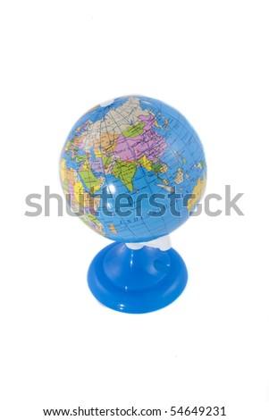A globe on a white background - stock photo