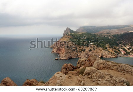 A gloomy seascape - stock photo